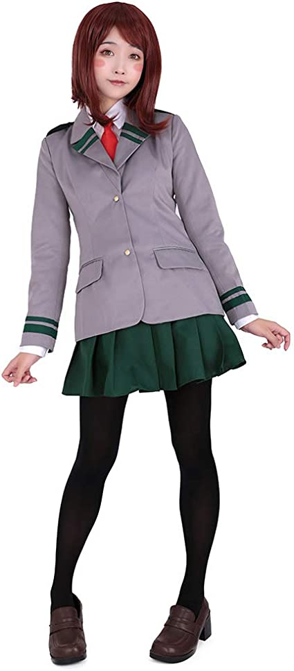 US!My Hero Academia Tsuyu Asui One-piece Elastic Tight Halloween Cosplay Costume
