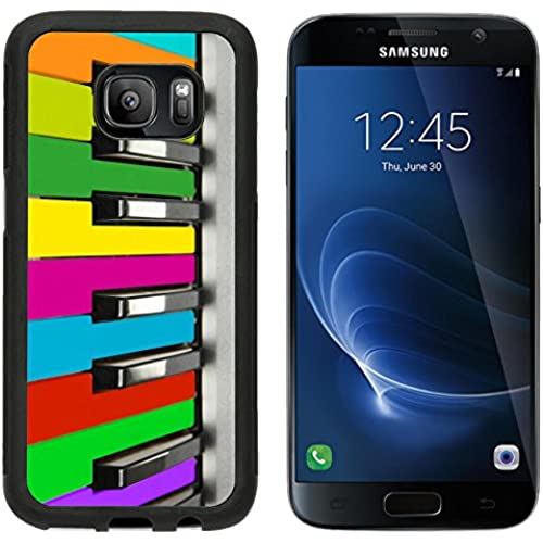 MSD Premium Samsung Galaxy S7 Aluminum Backplate Bumper Snap Case IMAGE ID 27543767 Background of colorful piano Sales