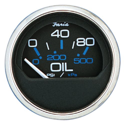 Faria Oil - Faria 3003.3583 13702 Oil Pressure Gauge-80 PSI, Chesapeake Black