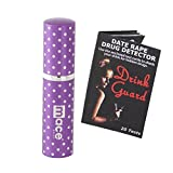 Ladies Night Out: Mace Exquisite Series Purple Polka Dot 1/2 Oz Purse Size Model Pepper Spray and Drink Guard Date Rape Drug Detector PLUS Bonus - Lot of 2 as Shown
