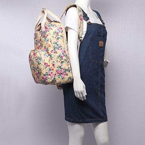 Oilcloth Shoulder Floral Square Lulu Flower Satchel Structured Bag Matte 1658Beige Miss I4apUx