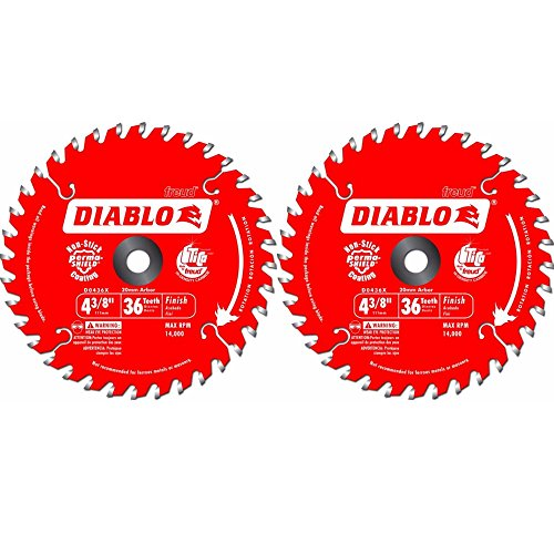 Atb Trim - Freud D0436X Diablo 4-3/8-Inch 36 Tooth ATB Saw Blade 20-Millimeter Arbor & 3/8-Inch Reducer Bushing (2 Pack)