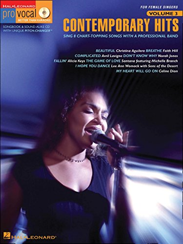 - Hal Leonard Contemporary Hits - Pro Vocal Series for Female Singers Book/CD Volume 3