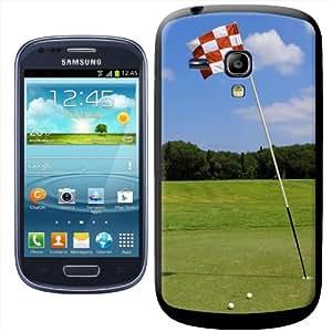 Fancy A Snuggle SHL-SAMS3M-SP-65_B - Carcasa para Samsung Galaxy S3 Mini i8190, diseño de bandera de hoyo de golf