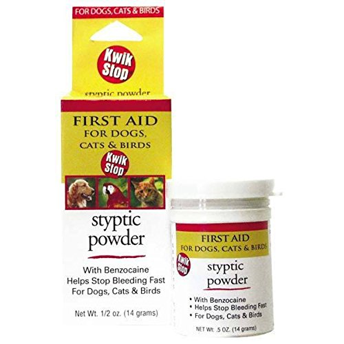 GIMBORN Kwik Stop Styptic Powder Dog Cat & Bird Nail Care - 3 Sizes Available(Kwik Stop Powder - 6 oz)