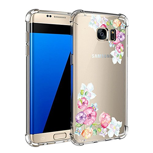 Price comparison product image Beryerbi Samsung Galaxy s6/s6 Edge/s6 Edge Plus Soft TPU Shock Proof Interesting Pattern Ultra Flexible Transparent Protective Cover (Galaxy s6 Edge, 2)