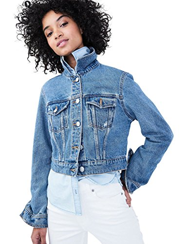 Aeropostale Medium Wash Crop Denim Jacket Small Medium Wash