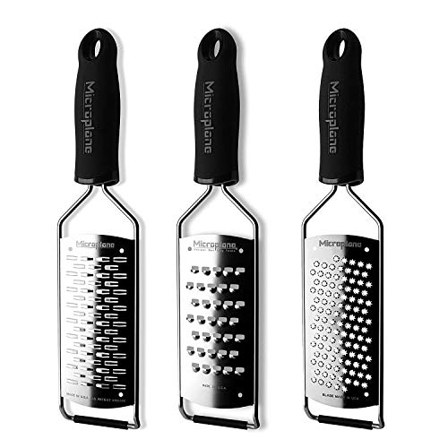 Microplane Gourmet Series 3-Piece Grater Set, Medium Ribbon, Extra Coarse and Coarse Grater