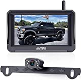 AMTIFO A6 Wireless Backup Camera HD 1080P Kit with Stable Digital Signal,5 Inch Split/Full Monitor Rear View System for Trucks,Cars,Campers,Vans Support Second Wireless Camera for Truck,Car,RV