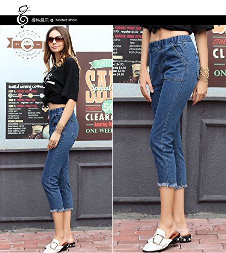 Jeans Straight 2949 Tassels Jeans Waist Fytoo Female Elastic 8aXFnnH