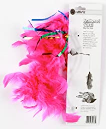 Ruffin\' It Feather Wand Cat Toys With 10 Inch Cord, Colors Vary, 3-Pack