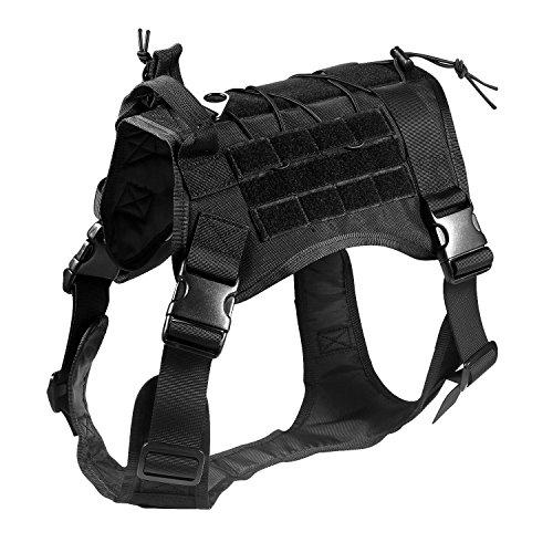 Feliscanis Tactical Dog Training Vest Harness Adjustable Service Dog Vest Black Szie L by Feliscanis