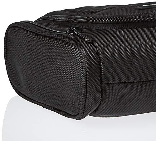 51r5h28VvBL - AmazonBasics Hanging Travel Toiletry Kit Bag - Black