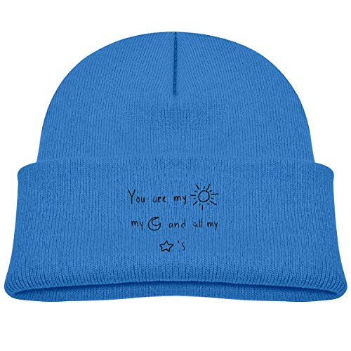 (Banana King You are My Sunshine Baby Beanie Hat Toddler Winter Warm Knit Woolen Watch Cap for Kids Blue)