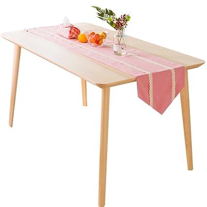 Tabla Runner Pink Double Layer Fabrics Mesa De Comedor Mesa De ...