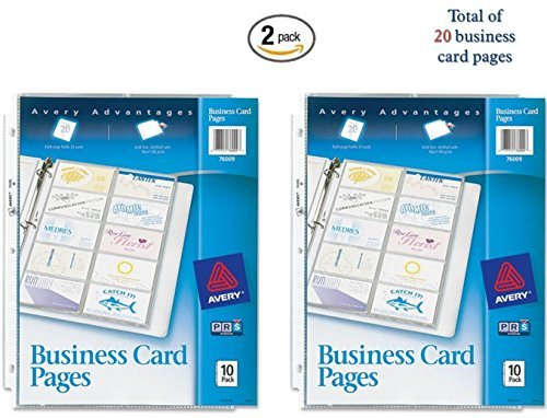 Avery Business Binder - Avery Business Card Pages, Pack of 10 (76009) (2)