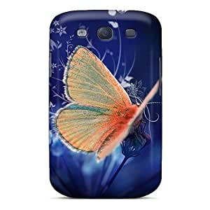 For WhI1570vrde Butterfly Hd Protective Case Cover Skin/galaxy S3 Case Cover