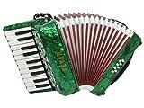 Fever Piano Accordion 22 Keys 8 Bass, Green