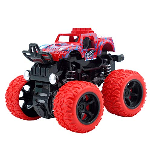 (TOOGOO Mini 4Wd Inertia Rotatable Car Toys Friction Power Four-Wheeled Off-Road Vehicle Diecast Model Inertial Car Toy)