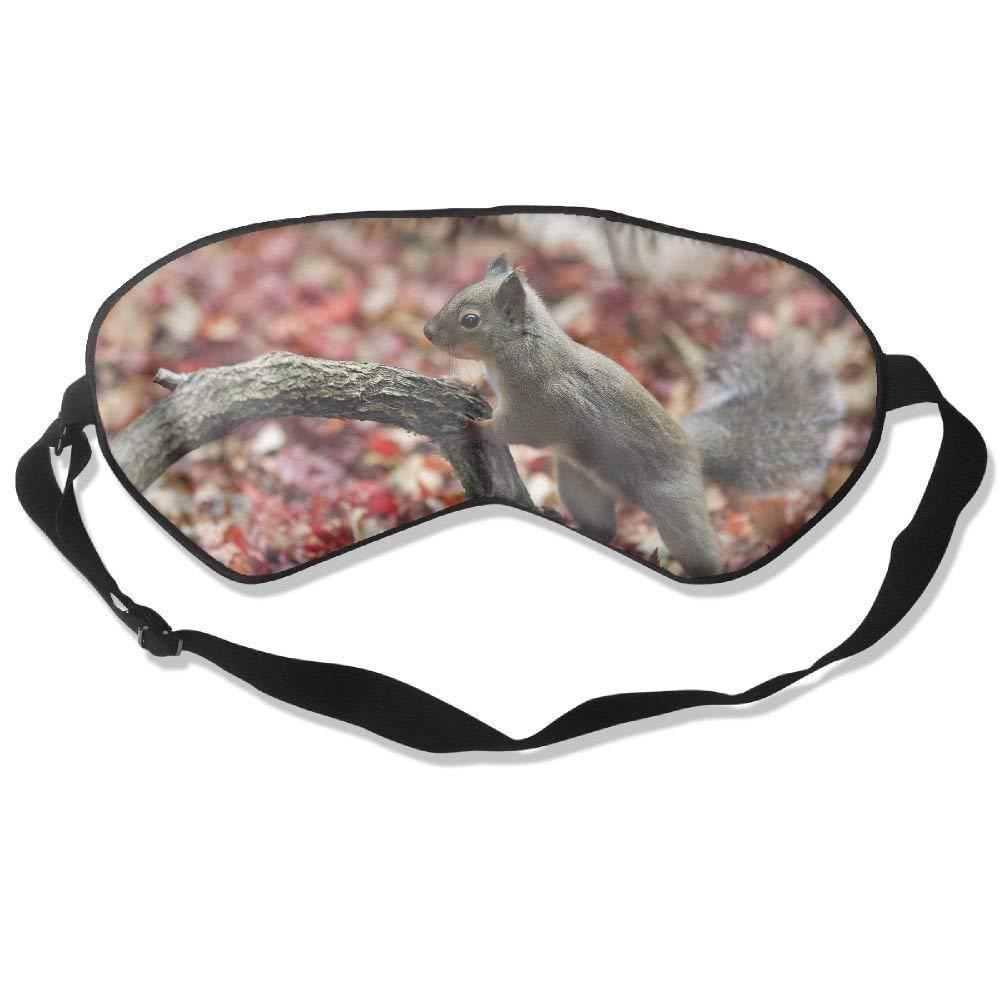 100% Mulberry Silk Sleep Mask for A Full Night's Sleep, Comfortable and Super Soft Eye Mask with Adjustable Strap, Blindfold, Blocks Light, Animal Autumn Color