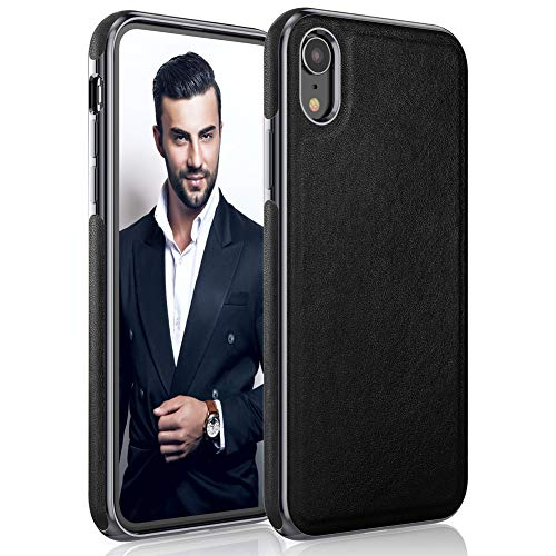 - LOHASIC iPhone XR Case, Premium Leather Luxury Thin Slim Flexible Hybrid Defender Bumper Soft Non-Slip Grip Anti-Scratch Full Body Shockproof Protective Cover Cases for Apple iPhone XR 6.1 inch -Black