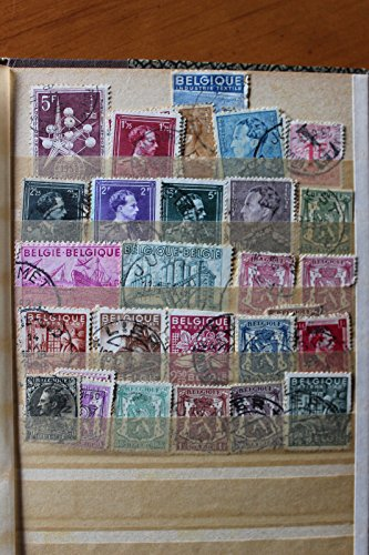 Collection of 30 used stamps, Belgium