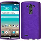 Silicone Case for LG G3 - brushed purple - Cover PhoneNatic + protective foils