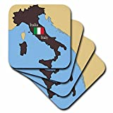 3dRose LLC The Map and Flag of Italy wit