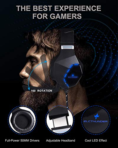 ELCTHUNDER Gaming Headset for Nintendo Switch, PS4, Xbox One Games 3.5mm Wired Gaming Headphone with - http://coolthings.us