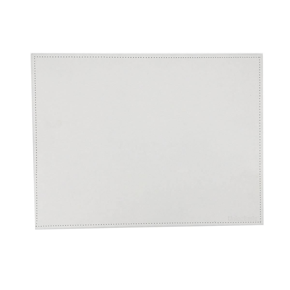 UnionBasic PU Leather Desk Mat - Protective Mat & Protector Mouse Pad for Desktops and Laptops, 24'' x 16'' (White, Size M)