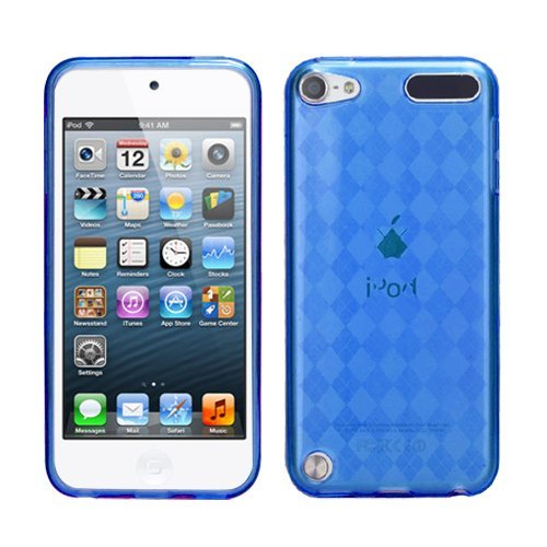 Fits Apple iPod Touch 5 (5th Generation) Soft Skin Case Dark Blue Argyle Pane Candy Skin (does NOT fit iPod Touch 1st, 2nd, 3rd or 4th generations)