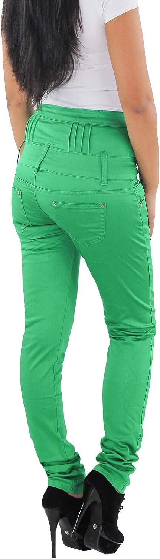 Sotala Damen Jeans Hose R/öhrenjeans Skinny Stretchhose Damenhose Hochschnitt Hochbund hoher Schnitt High Waist Blau Rot Beige Gr/ün