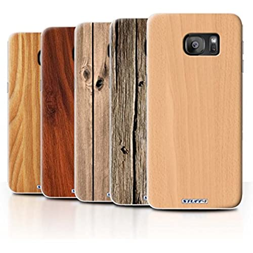 STUFF4 Phone Case / Cover for Samsung Galaxy S7 Edge/G935 / 7 Pack / Wood Grain Effect/Pattern Collection Sales