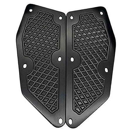 Negro TOOGOO para Xmax 300 Reposapi/éS Placas X MAX 300 Almohadillas de Reposapi/éS Xmax 300 para Motocicleta CNC Accesorios