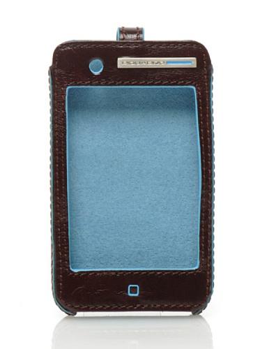 Piquadro Custodia Ipod Touch Blue Square Mogano