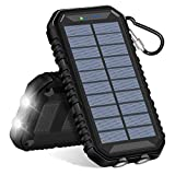 Solar Charger 15000mAh,SOARAISE Portable Power Bank with 2.4A Outputs Waterproof Phone Charger for Smart Phones and Outdoor Camping