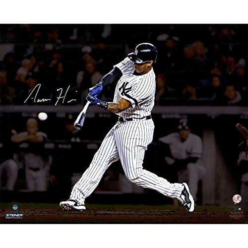 Aaron Hicks New York Yankees Autographed Signed 'Hitting' 16x20 Photo