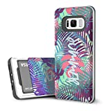 DesignSkin Slider Galaxy S8 Case with Slim Triple Layer Wallet Design Shockproof Bumper Cushion Card Slot Holder for Galaxy S8 Fashionable Smartphone Accessory Card holder (Tropical)