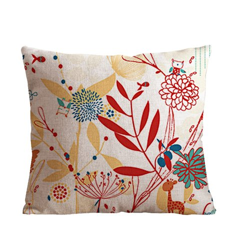 OneMtoss Decorative Beautiful Pattern personalized pillow cases 22 x 22 Inch Linen Cloth Pillow Cover Cushion - Nikki And Rihanna