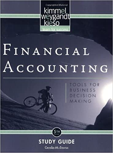 Book Financial Accounting, Study Guide: Tools for Business Decision Making by Paul D. Kimmel (2009-01-14)