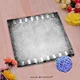 VROSELV Custom Cotton Microfiber Ultra Soft Hand Towel-grunge color filmstrip texture scratched photo film frame background Custom pattern of household products(20''x20'')