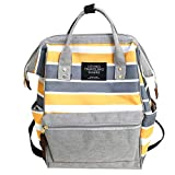 Durable Backpack,Ultra Lightweight Water Resistant Travel School Laptop Daypack Large Capacity Bag for Women Girls Gray