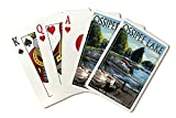 Ossipee Lake, New Hampshire - Pontoon Boats (Playing Card Deck - 52 Card Poker Size with Jokers)