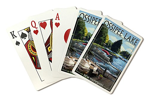 Ossipee Lake, New Hampshire - Pontoon Boats (Playing Card Deck - 52 Card Poker Size with Jokers) by Lantern Press