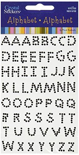 (MARK RICHARDS Crystal Stickers Alphabet 58/Pkg-Black)