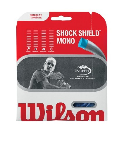 Wilson Sporting Goods Shock Shield Mono Tennis String Set, Blue, 17-Guage