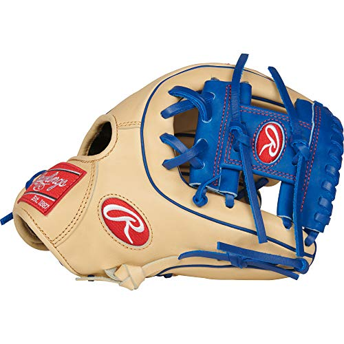 (Rawlings PRO312-2CR Heart of The Hide Infield Baseball Gloves (Right Hand), Tan/Blue, Size 11.25)