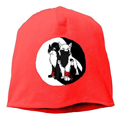 WLF Unisex Ying Yang Wolves Fashion Soft Daily Beanie Hat Skull Cap ()