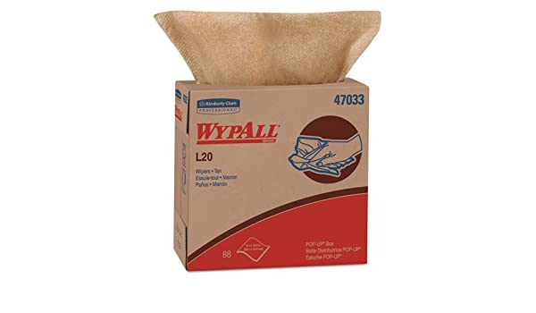 Amazon.com: Wypall 47033 L20 Wipers, POP-UP Box, 2-Ply, 9 1 ...