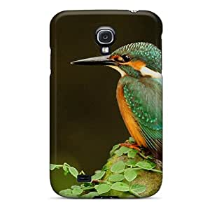 AMY KS Snap On Hard Case Cover Pearl Of Nature The Kingfisher Protector For Galaxy S4